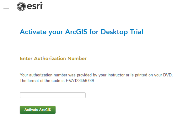 ArcGIS_Activation Page Screenshot
